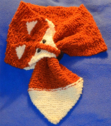 We Like Knitting: Fox Scarf - Free Knitting Pattern