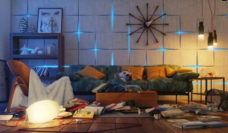 10 striking living room wall decor ideas for fresh morning | Dolf ...