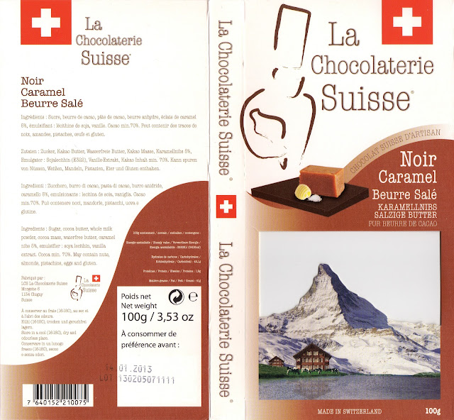 tablette de chocolat noir gourmand la chocolaterie suisse noir caramel beurre salé