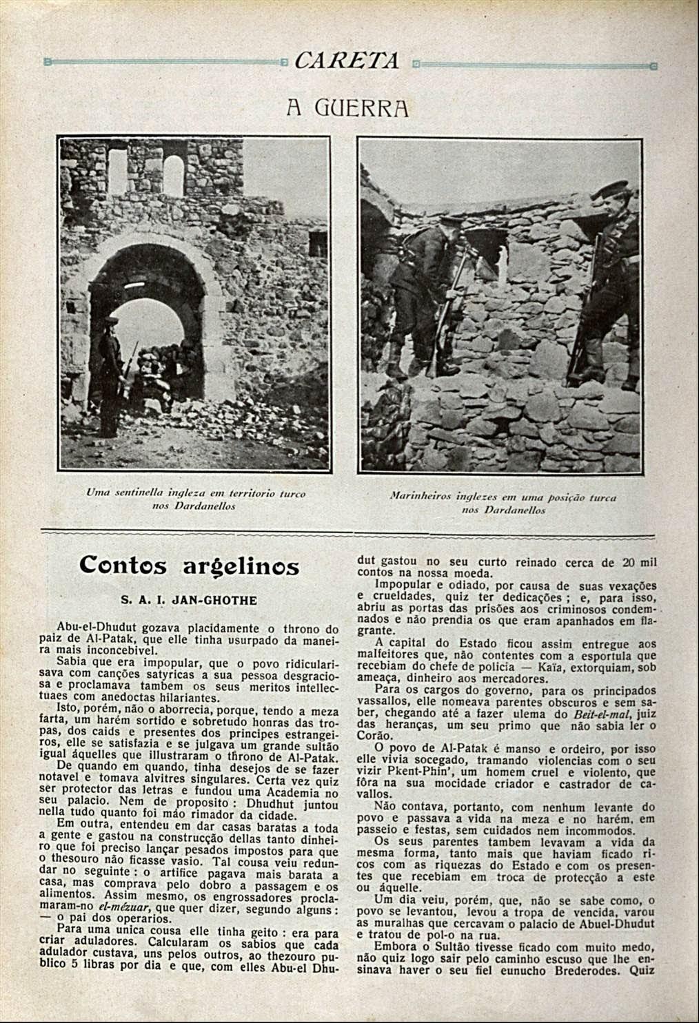 conto de Lima Barreto em Careta 1915- parte I