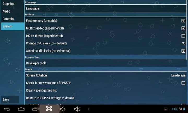 setting ppsspp for android