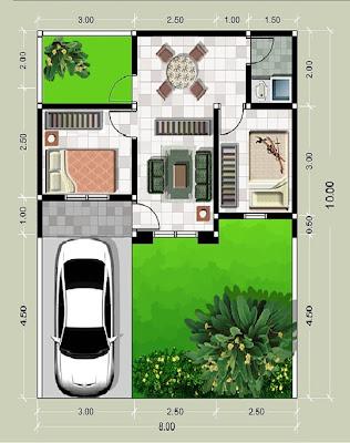 Desain Denah Model Rumah Minimalis Sederhana