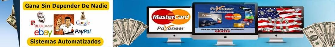 $$COMO Cobrar Dinero Por PayPal Con La Tarjeta Payoneer 2014....$$