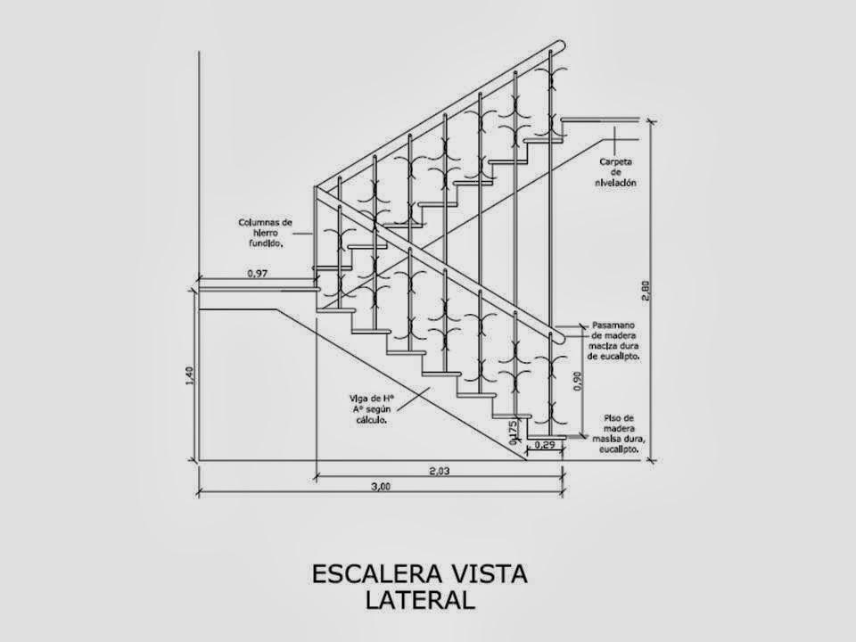 Dise a estudio dise o c lculo y detalles constructivos for Escalera de hormigon con descanso