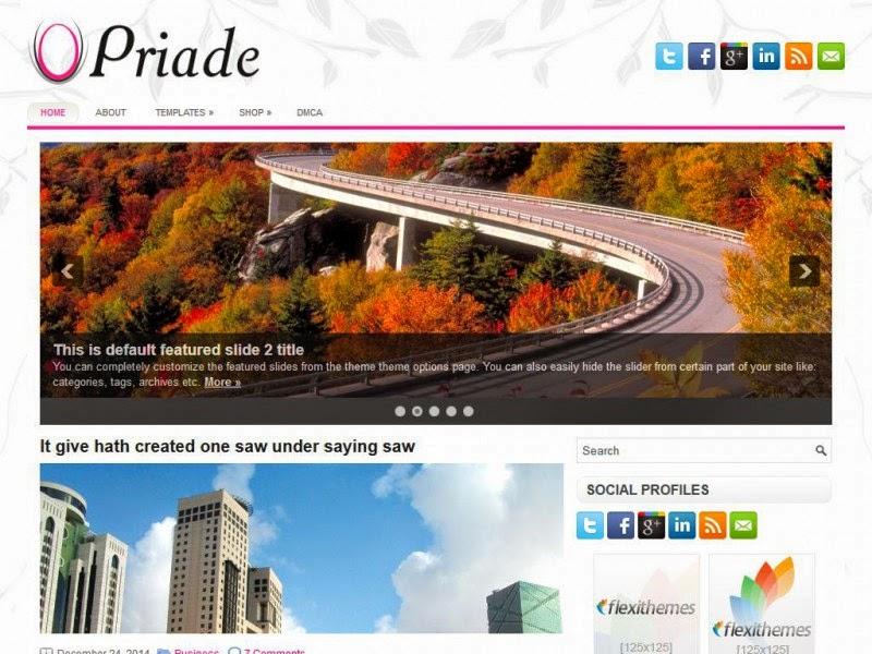 Priade - Free Wordpress Theme