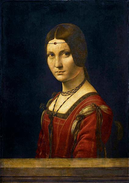 "Painting ""La belle Ferronniere"" by Leonardo da Vinci, 1490-1496"