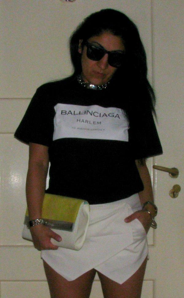 OOTD: Ballinciaga COI & White Skorts 2