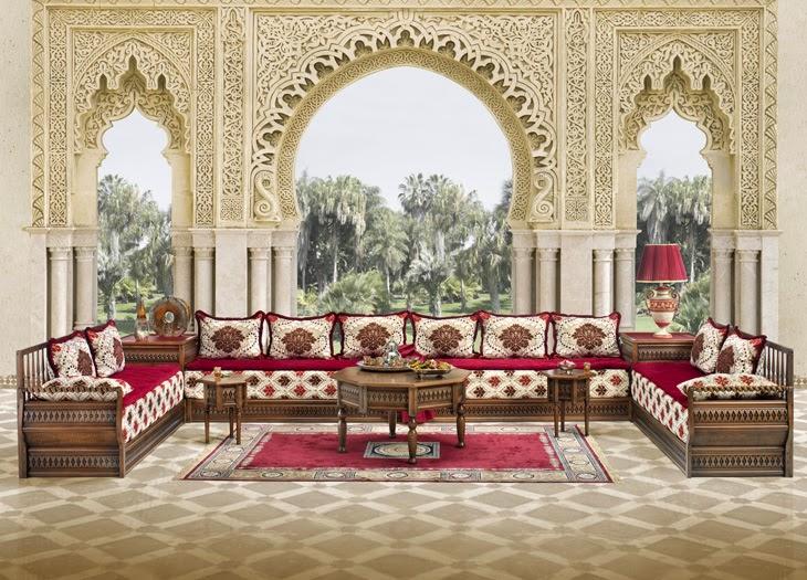 D coration et salon marocain maroc caftan for Salon traditionnel marocain vert