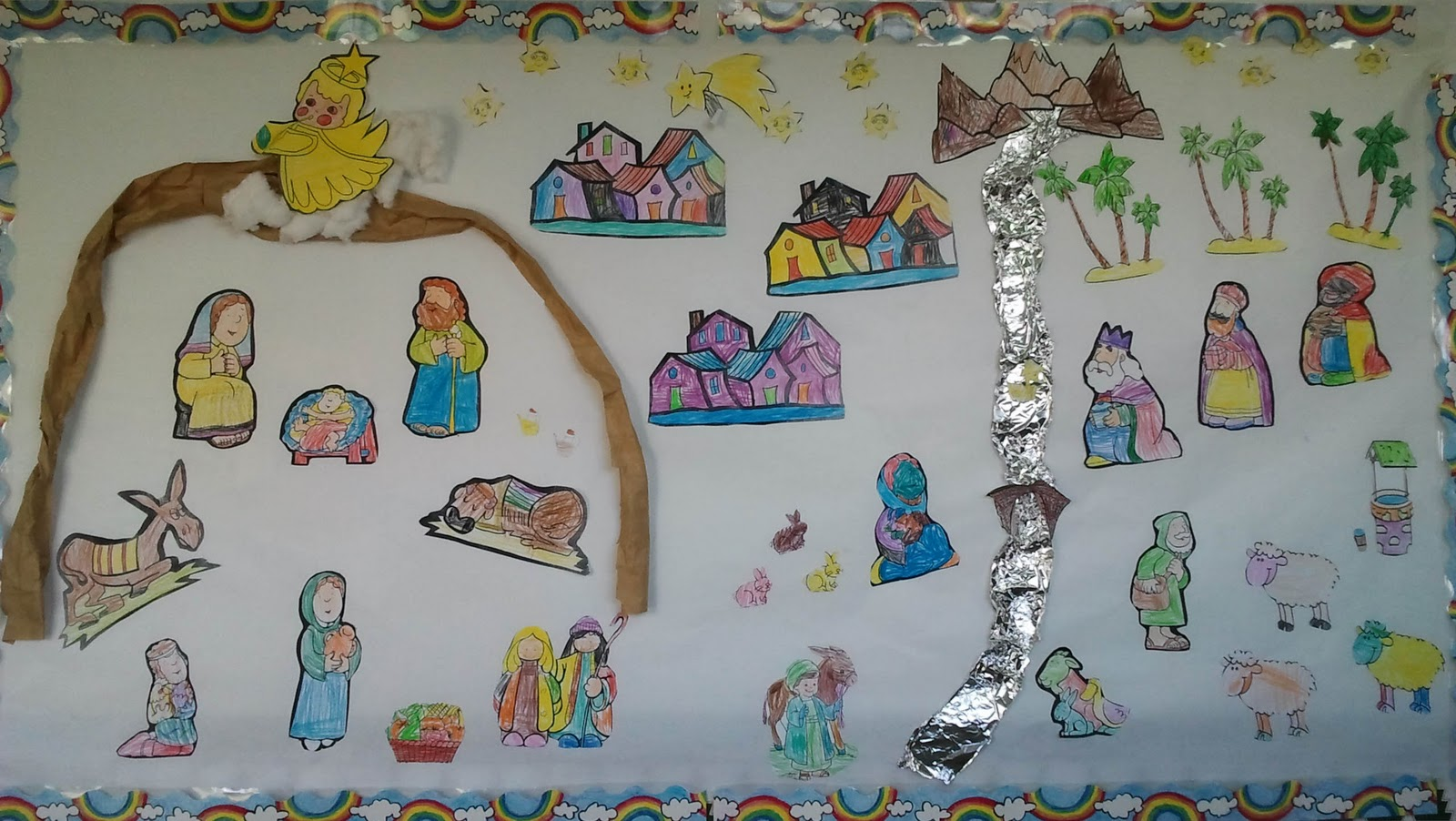 The earth is our home diciembre 2011 - Mural navidad infantil ...