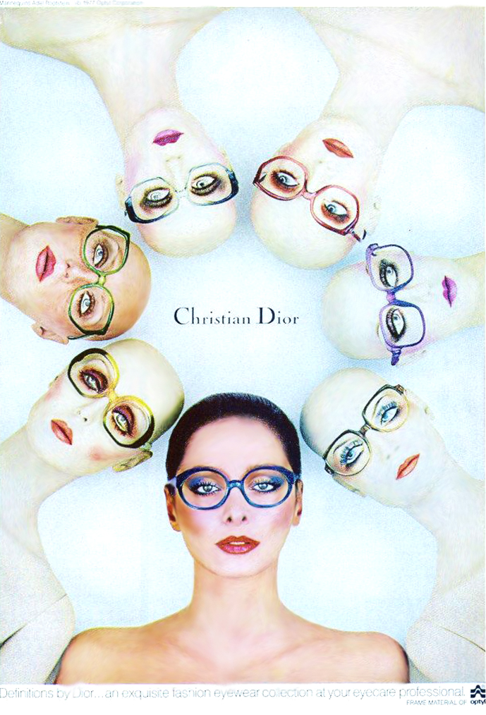 Christian Dior Eyewear 1977 advertising campaign / fashioned by love