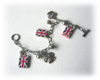 Queens Diamond Jubilee, Union jack flag charms, London Olympics 2012, London bespoke jewellery, charm bracelets, jubillee celebrations