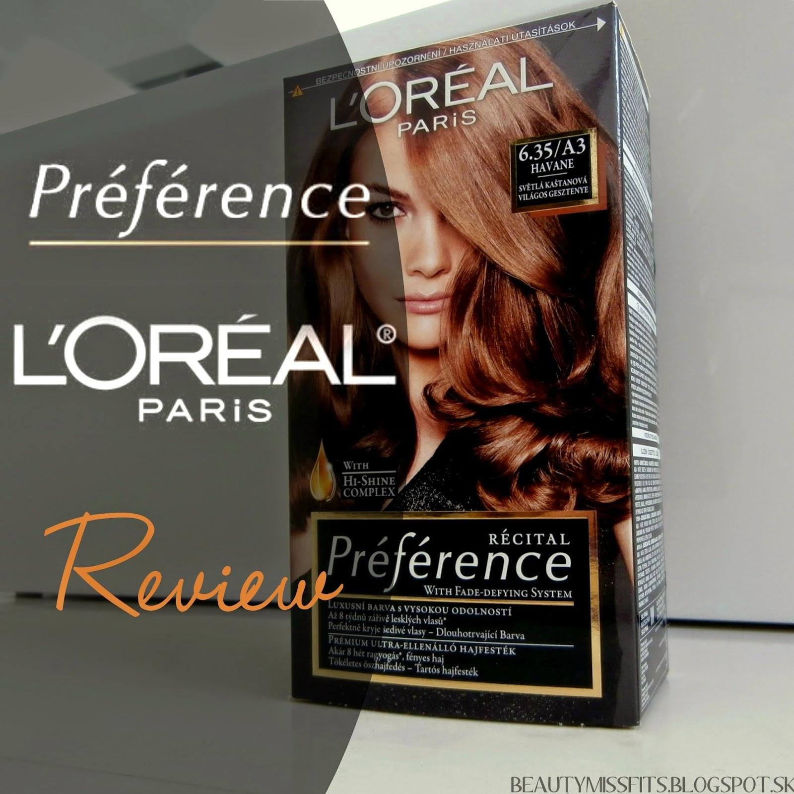 L'Oréal Paris Préférence - farba na vlasy (recenzia) + fotky pred/po