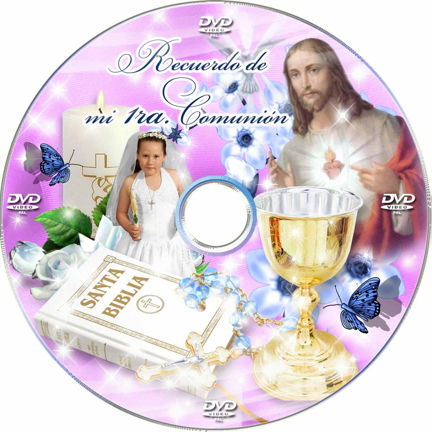 Portada para DVD para Primera Comunión