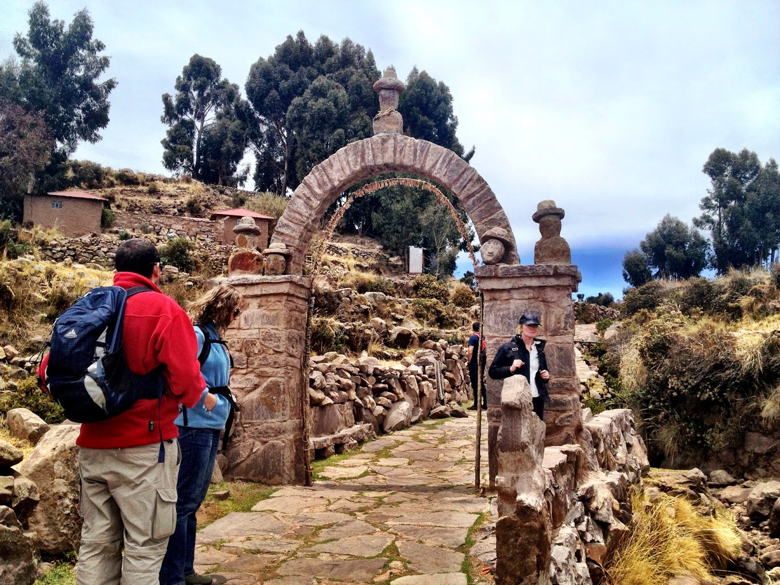 The arch leading to the main square - Taquile Island