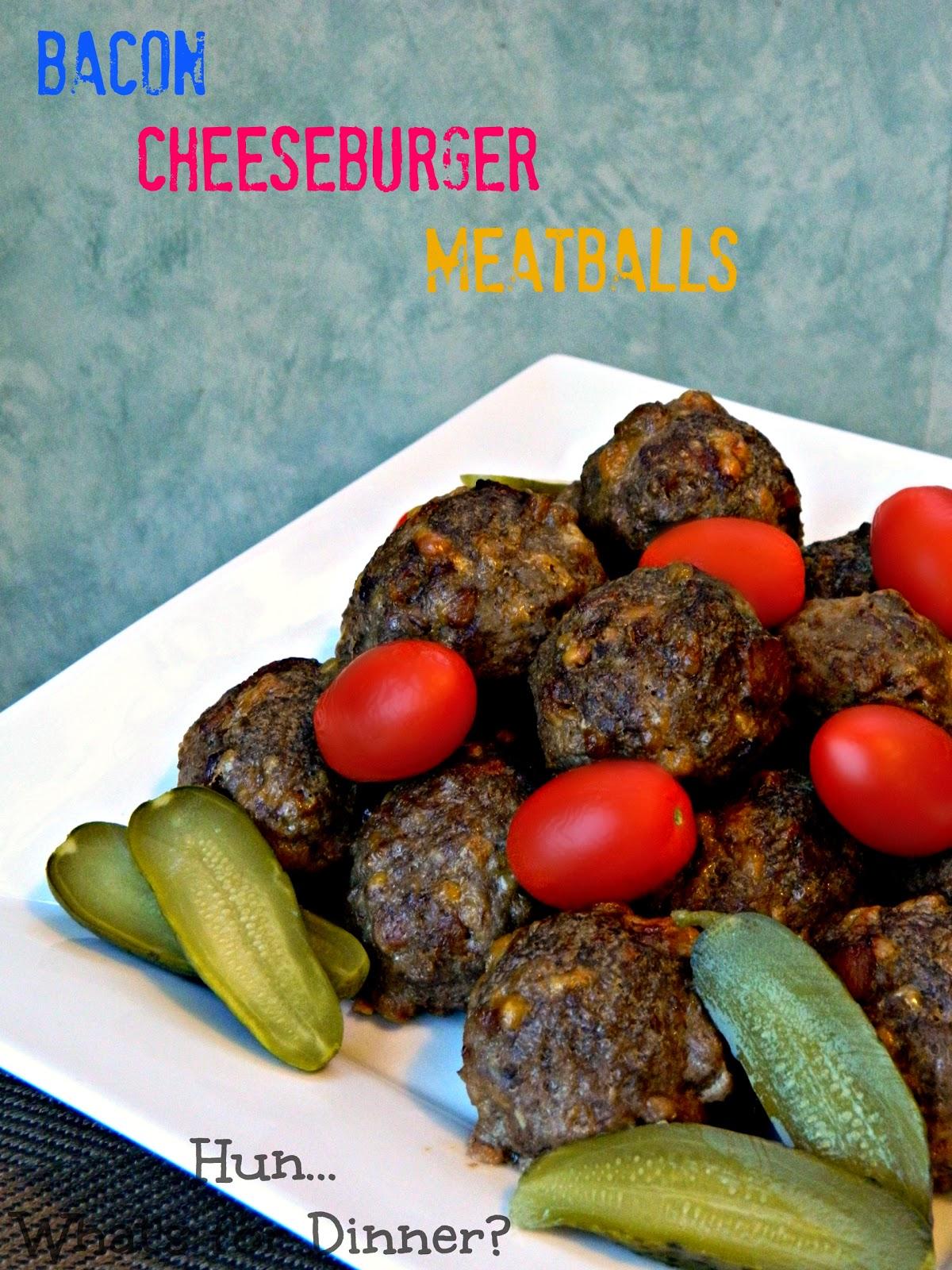 Secret Recipe Club- Bacon Cheeseburger Meatballs on Hun... What's for Dinner?