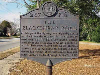Once Resupplied At Least In Part Blackshear Began Cutting A Road Down The Northeastern Line Of Ocmulgee And Altamaha His Destination Was Fort