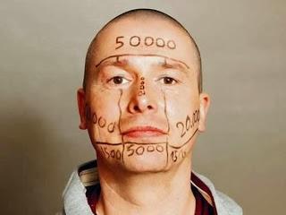 رجل ألماني يعرض وجهه للبيع - german man sell his face