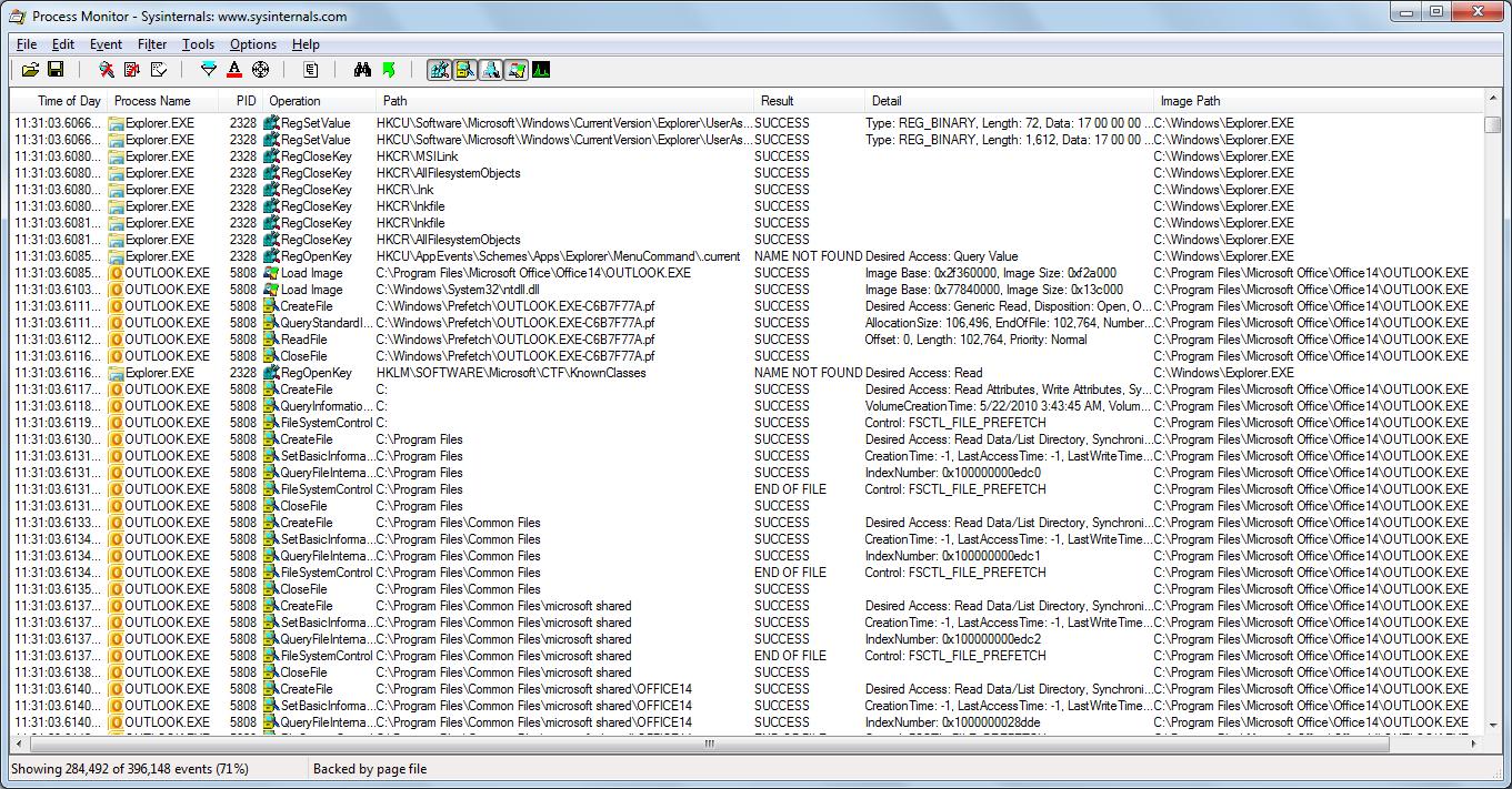 Process Monitor de Sysinternals