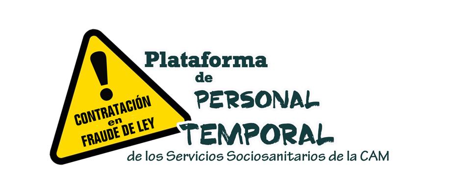 Plataforma de Personal Temporal del SERMAS y Servicios Sociosanitarios de la Comunidad de Madrid