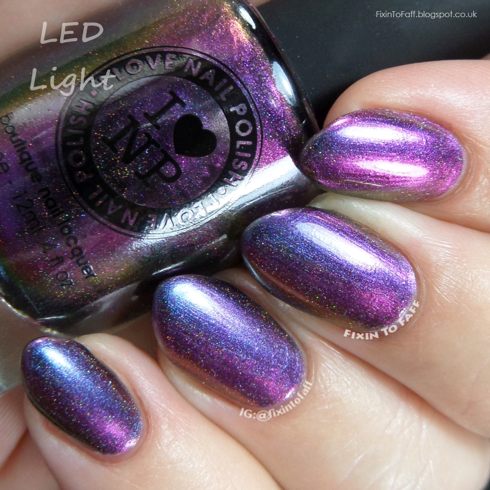 Swatch and review of the holographic holo version of ILNP Peace.