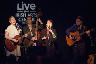 Aoife O'Donovan and Karan Casey perform last week.  (Photo by Erin Baiano/Irish Arts Center)