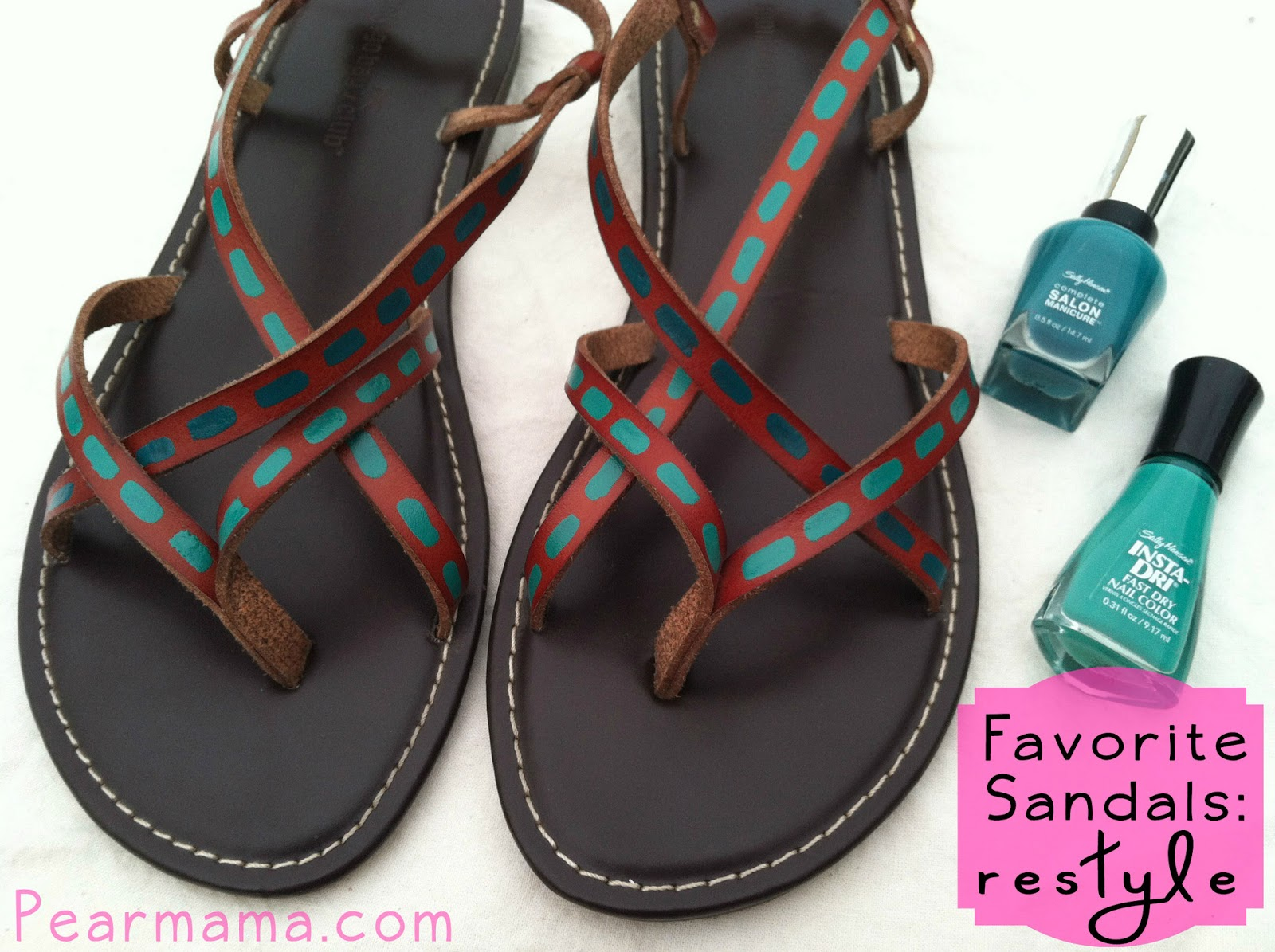 Pearmama: Restyle Your Favorite Sandals with Nail Polish
