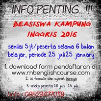 INFO BEASISWA 2016