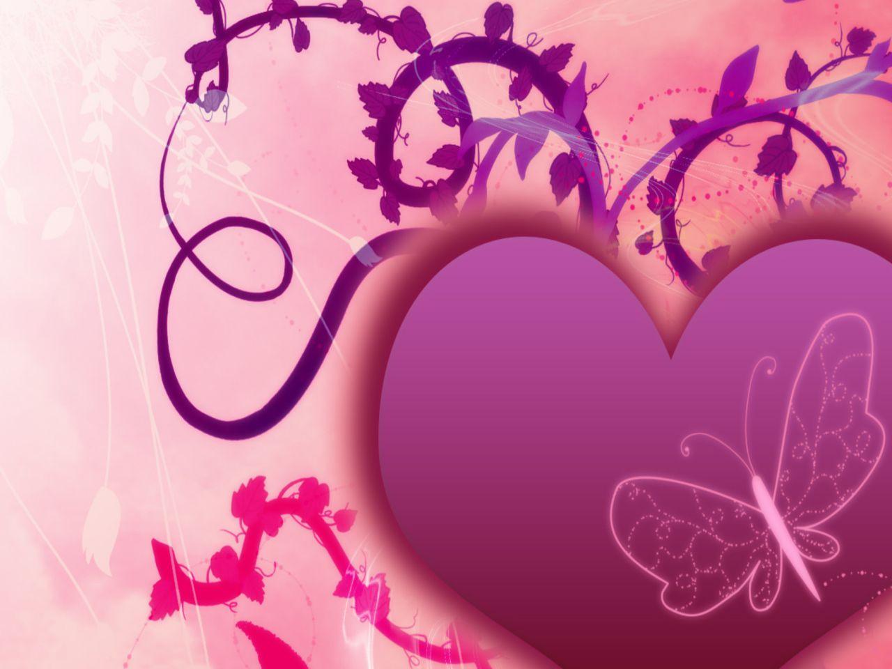 3d Valentine Heart Love Wallpaper