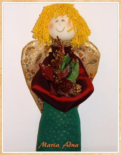 Anjo de Natal I, Maria Adna, Maria Adna Ateliê, Decoração natalina, Decoração de Natal, Artigos de Natal, Natal, Patchwork bolsas e afins