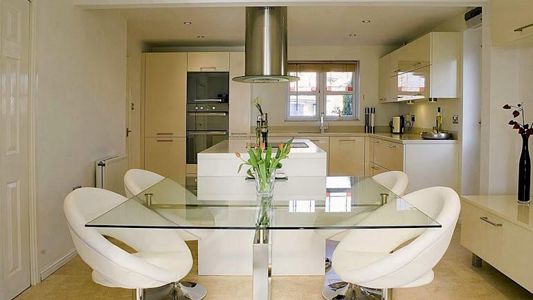 Interior Glass kitchen table