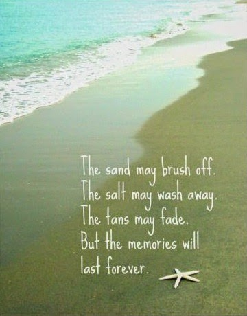 The memories will last forever. Beach quote. Print.