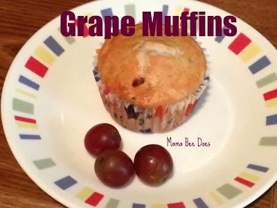 Grape Muffins   http://mamabee.net