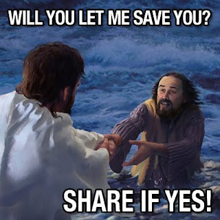 Will you let me save you? Share if yes! (picture of man in water)