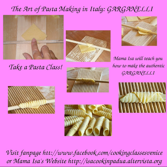 Come to learn how to make the fresh pasta garganelli