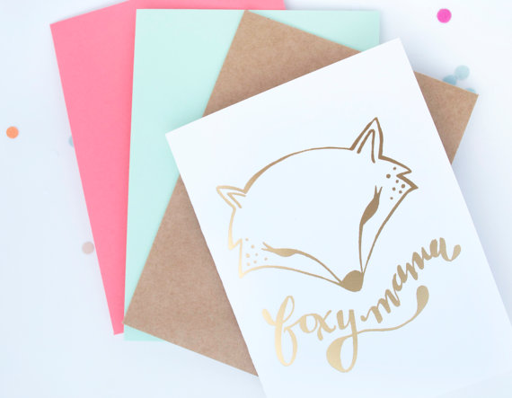 Itty Bitty Mini Fab Find Foxy Mama Baby Shower Cards By