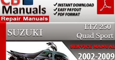 suzuki ltz 250 quad sport 2002 2009 technical service manual rh technicalservicemanuals blogspot com suzuki ltz 250 service manual pdf free suzuki ltz 250 service manual