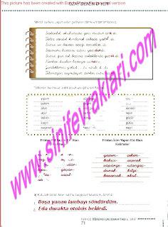 6.Sinif  Turkce Doku Yayinlari Ogrenci Calisma Kitabi Sayfa 71