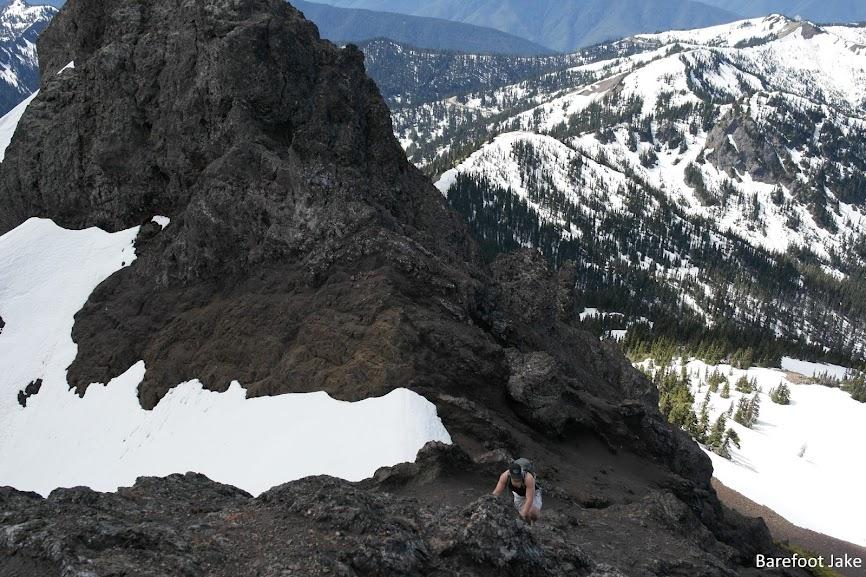 Climbing mount angeles