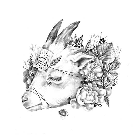 Dibujo, grafito y surrealismo de NICOMI NIX TURNER
