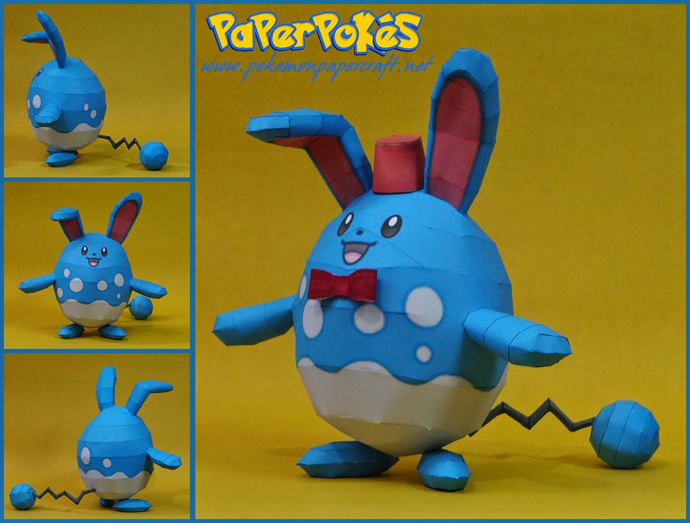 Pokemon Azumarill Papercraft