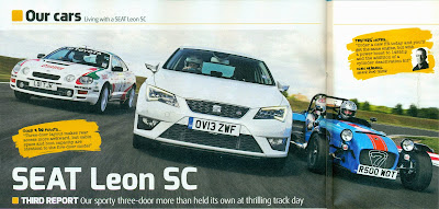 Taking part in the Auto Express SEAT Leon SC track review picture