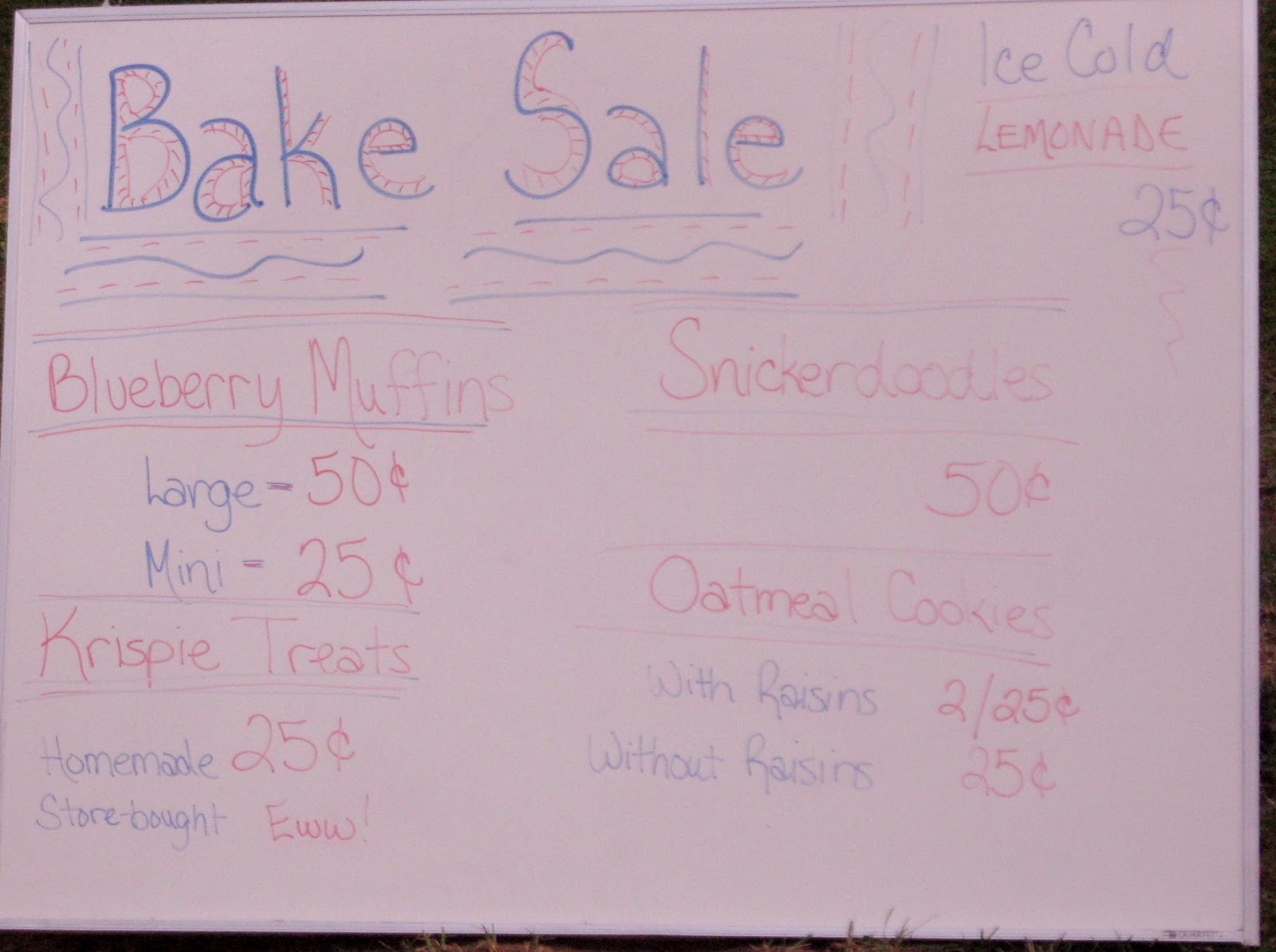 seams inspired bake the bake sign injecting a little humor helps sells see krispie treats pricing