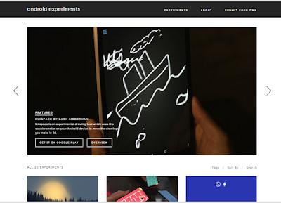 Google Merilis Situs Web yang bernama Android Experiment