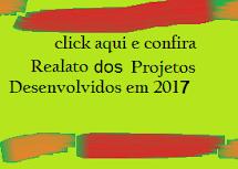 Relato dos projetos desenvolvidos em 2017
