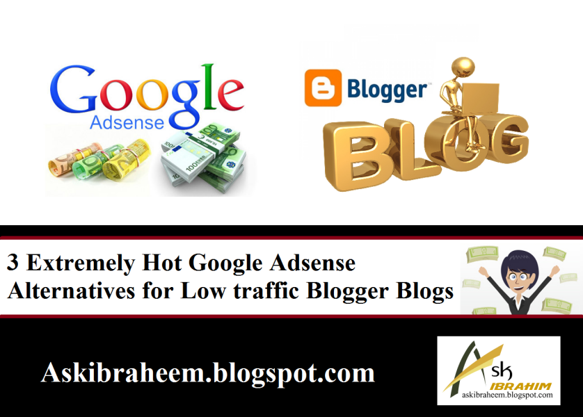 3 Extremely Hot Google Adsense Alternatives For Low Traffic Blogger