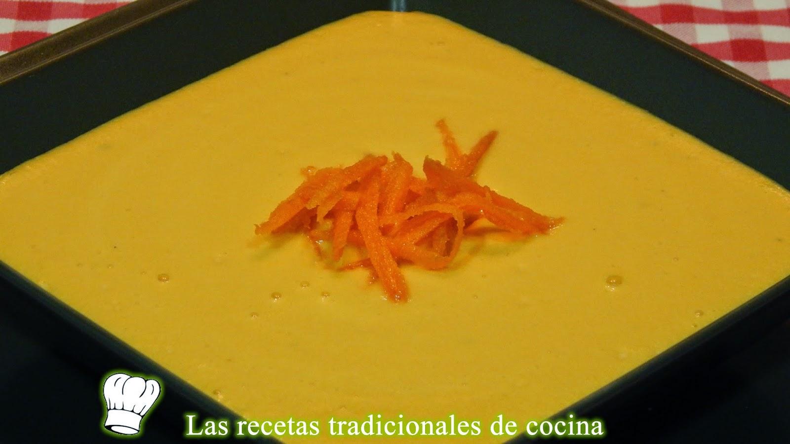 RReceta de crema de zanahorias