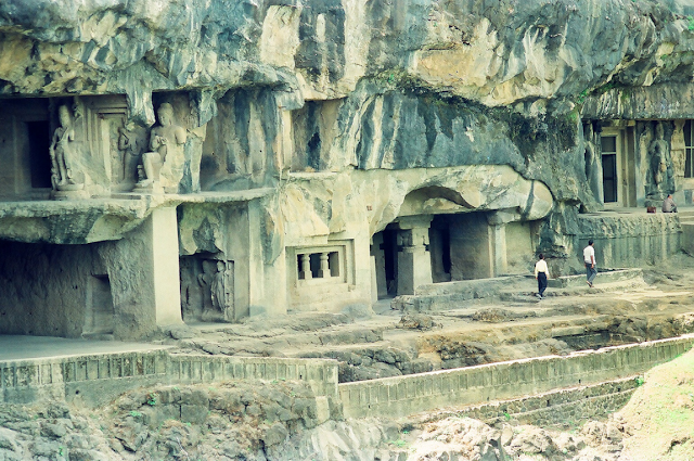 A closer view of Ajanta Caves