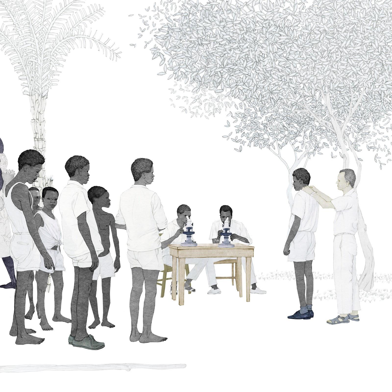 medico, microscopios, salud, medico, dibujo