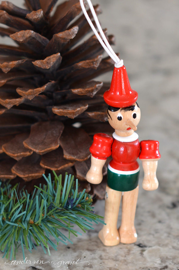 Pinocchio ornament from Italy | www.andersonandgrant.com