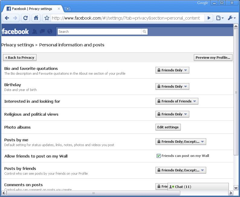 Facebook lets you change content visibility on a post-by-post basis.